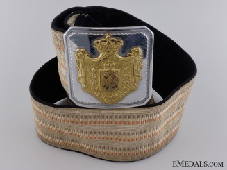 A 1920's Royal Yugoslav Officer's Belt and Buckle