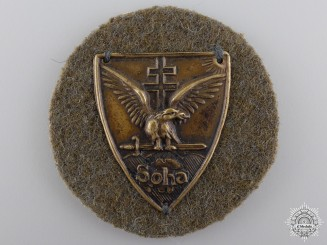 Hungary, Kingdom. A Soha Badge, c.1935