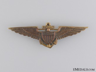 A 1930's American Navy Fighter Pilot Tests Badge