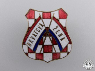 A 1930's Croatian Women's Badge