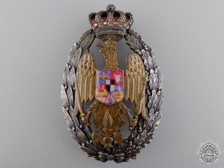 A 1930's Romanian Military Academy Badge by Bruder Schneider Wien