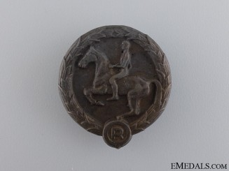 A 1932-45 German Youth Horse Rider's Badge by Willy Annetsberger