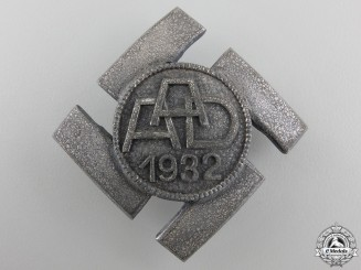 A 1932 Anhalt Labor Commemorative Badge; Silver Grade