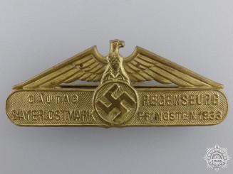A 1933 Bavarian East March Gau Day Pentecost Tinnie
