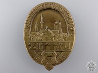 A 1933 Zittua 1000 Year Anniversary Tinnie