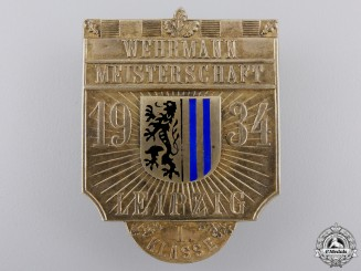 A 1934 Leipzig Wehrmann Championship 1st Class Shooting Badge