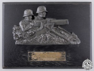 A 1935 German Machine Gunners Plaque