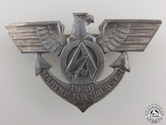 A Scarce 1936 Marine SA Sachsen Badge