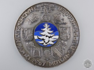 A 1937 NSKK Hesse Motor Group Night Cruise Table Medal