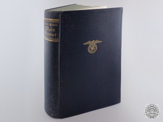 A 1937 Presentation Mein Kampf Signed by Adolf Hitler