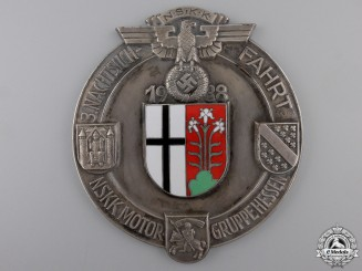 A 1938 NSKK; Hesse Group Plaque