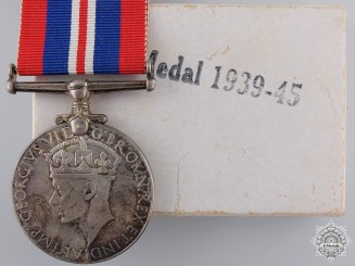 A 1939-1945 Canadian Issued War Medal with Box