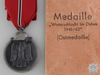 A 1941/42 East Medal with Packet by Werner Redo