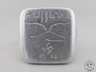 """A 1942 Field-made Luftwaffe """"Russland"""" Ring"""