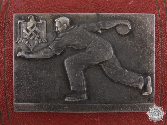 A 1942 German-Croatian Bowling Match Medal