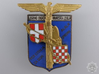 A 1942 Italian-Croatian Legion Officer's Badge