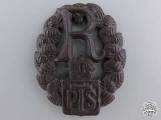 Croatia, Independent State. A PTB Police Badge, c.1944