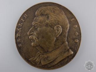 Russia, Soviet Union. A 1949 Joseph Stalin Commemorative Table Medal