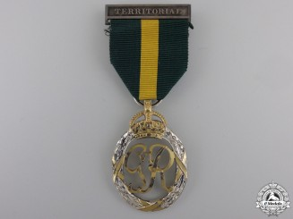 A GVI Efficiency Decoration; Territorial Bar; 1950 Dated
