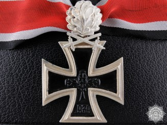 A 1957 Knight's Cross of the Iron Cross with Swords and Oak Leaves  Consignment #29