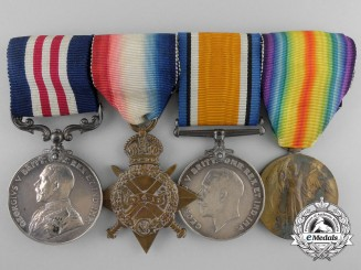 A First War Military Medal Group to 2nd Lieut Macauley; Royal Scots