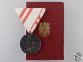 A 1964 Innsbruck Olympic Games Medal with Case