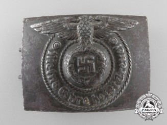 A Waffen SS EM/NCO's Steel Belt Buckle by RODO