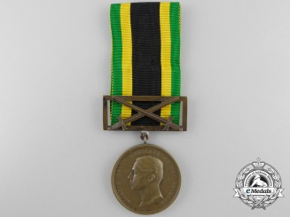 A 1914 Saxe-Weimar Bronze Merit Medal with Swords