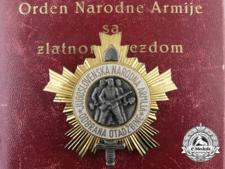 A Yugoslavian Order of the People's Army with Gold Star; 2nd Class & Named