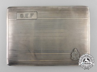 A Second War Cigarette Case to Major G.E. Findlay; Royal Montreal Regiment