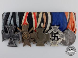 A First War Iron Cross & State Service German Medal Bar