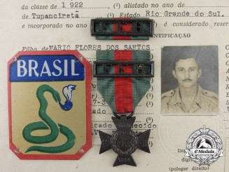 A Second War Brazilian Expeditionary Force Cross with Documents