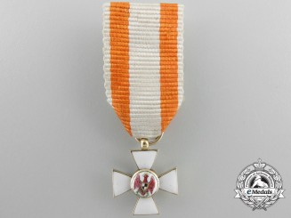 An Early Miniature Prussian Order of Red Eagle in Gold c.1845