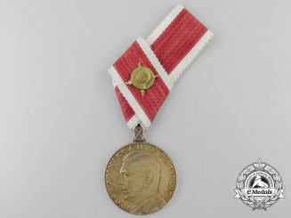 An Extremely Rare Croatian Golden Ante Pavelić Bravery Medal