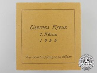 An Outer Cartonage for Iron Cross First Class 1939