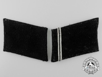 A Matching Pair of Tunic Removed Blank SS-SD Sturmmann's Collar Tabs