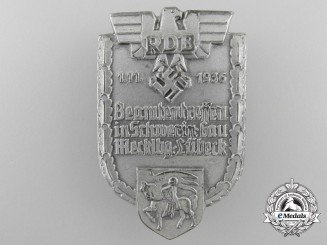 A 1936 Mecklenburg-Lubeck District Reich Federation of German Civil Servants