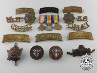 A Lot of Seventeen First War Canadian Badges & Insignia
