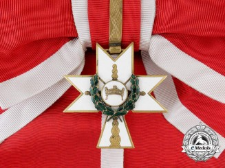 A Croatian Order of King Zvonimir's Crown; Grand Cross with Oak Leaves