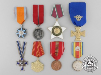 A Lot of Eight European Medals, Decorations, and Awards