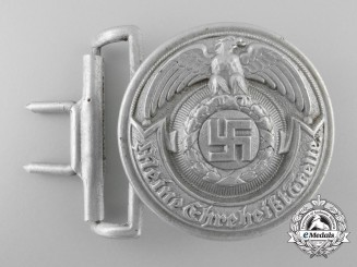 An SS (Schutzstaffel) Officer's Belt Buckle by Overhoff & Cie