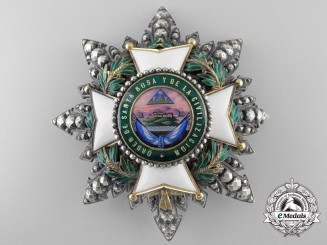 A Fine Order of Santa Rosa and of Civilization of Honduras; Grand Cross Star, by Halley, Paris