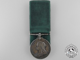A Colonial Auxiliary Forces Long Service Medal to Captain F.W. Adams; 16th Regiment