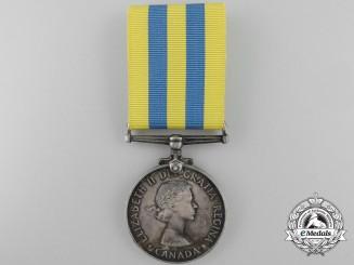 A Canadian Korea Medal to L.J. Langlois dit LaChapelle