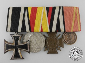 A First War German State of Baden Medal Bar