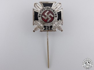 A 25 Year Veteran's Membership Stickpin by Gante