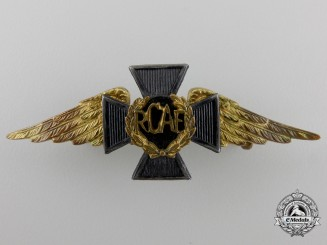 A Rare Second War Royal Canadian Air Force Chaplain Officer's Cap Badge