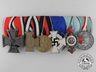 A Second War German Wehrmacht Medal Bar