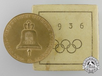 A 1936 Olympic Bronze Medal with Case