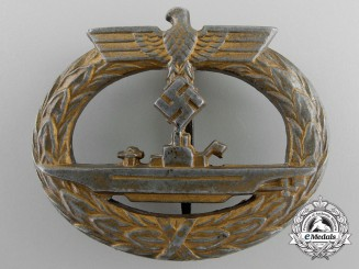 A German Submarine War Badge by Funcke & Brüninghaus, Lüdenscheid